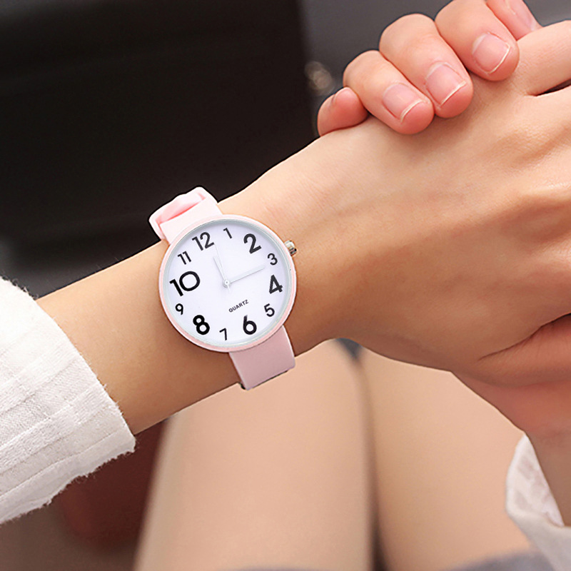 Women Literary Fan Watch Female Student Simple Jelly Trend Jelly Lady Clock Soft Band Girl Women's Watch For Children Kids Gifts
