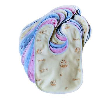 Losowe style Baby Animal wodoodporne śliniaki noworodek niemowlę ślina kreskówkowy ręcznik dla dziecka tanie i dobre opinie Moda CN (pochodzenie) Zwierząt kids Bibs Unisex COTTON