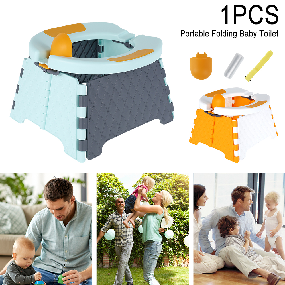 Portable Mobile Baby Folding Toilet Seat Potty Training Seat No-clean Children's Potty Urinal Indoor And Outdoor Toilet Seat