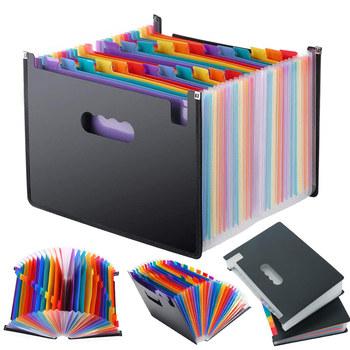 13 24 kieszenie rozkładana teczka działa akordeon biuro A4 Organizer do dokumentów GDeals tanie i dobre opinie CN (pochodzenie) Rozszerzenie portfel Przypadku 33X23 5 Z tworzywa sztucznego