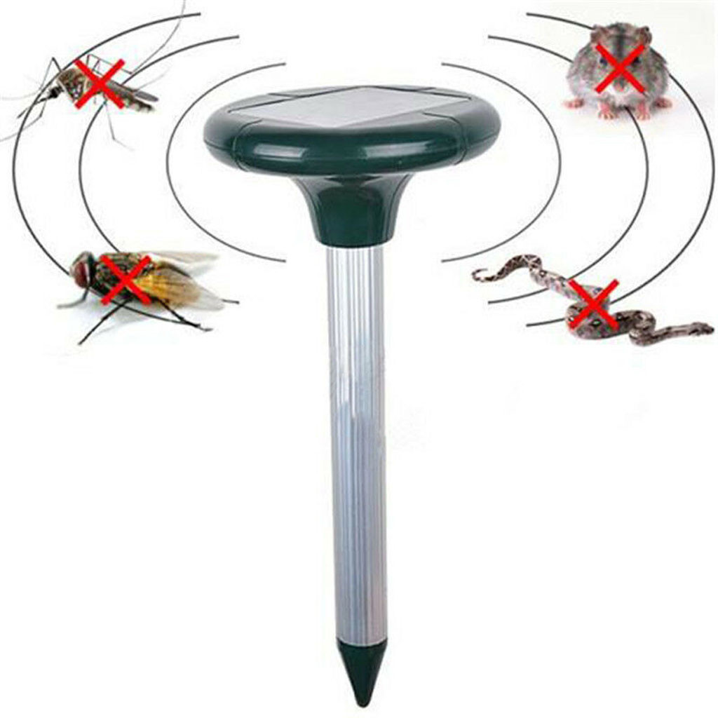 Mole Repellent Mouse Bird Snake Garden Mosquito Solar-Power Outdoor 2PC Pest