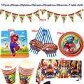 Марио Днем Рождения» одноразовой бумажной тарелки чашки набор посуды вечерние украшения поставщиков
