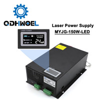 150W 120W 130W Co2 Laser Power Supply MYJG 150W Display LED Screen For Engraving Cutting Machine Laser Tube