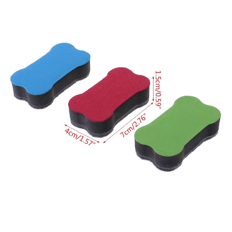 Bone Magnet Dry-Wipe Whiteboard Eraser Cleaner School Office Accessories Supply