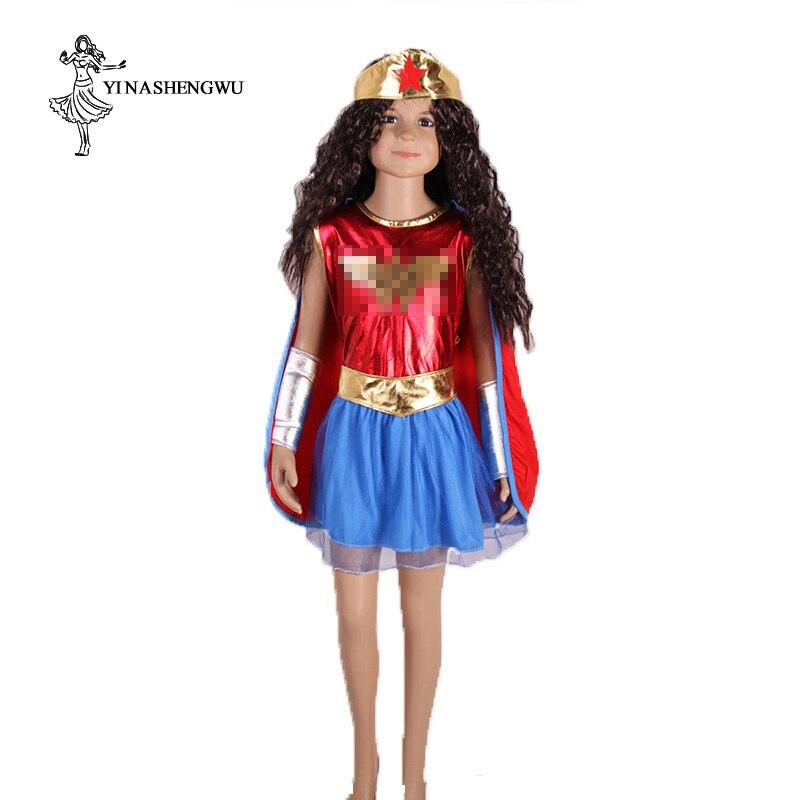 Wonder Woman Costume Movie For Kids TuTu Dress Cosplay Anime Superhero Halloween Costume For Girls Party Cosplay Feminino Dress