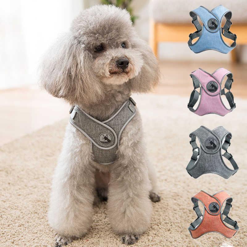 反射小型犬ハーネスとリーシュセットペットの子犬猫ベストハーネス犬ソフト通気性メッシュ卸売チワワ