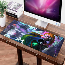 Large LOL Mouse pad 70x30cm Speed Game Gamer gaming Non-Skid for Tablet PC Latop Mat Zoe Kaisa Sexy Girl Mousepad(China)