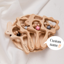 Grzechotka dla dzieci 1PC drewniana kreskówka grzechotka zwierzątko możliwość dopasowania grzechotka do ręki zabawka dla dziecka drewniane zęby zabawki dla dzieci gryzaki personalizowane prezenty tanie tanio CHEWELRY W wieku 0-6m 7-12m 13-24m 25-36m 4-6y Drewna CN (pochodzenie) Unisex PSZ1254 rozdzielone na koncert As picture