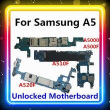 Placa base para Samsung Galaxy A5, A5000, A500F, A510F, A520F, con Chips completos, placa base de prueba, sistema operativo Android actualizado