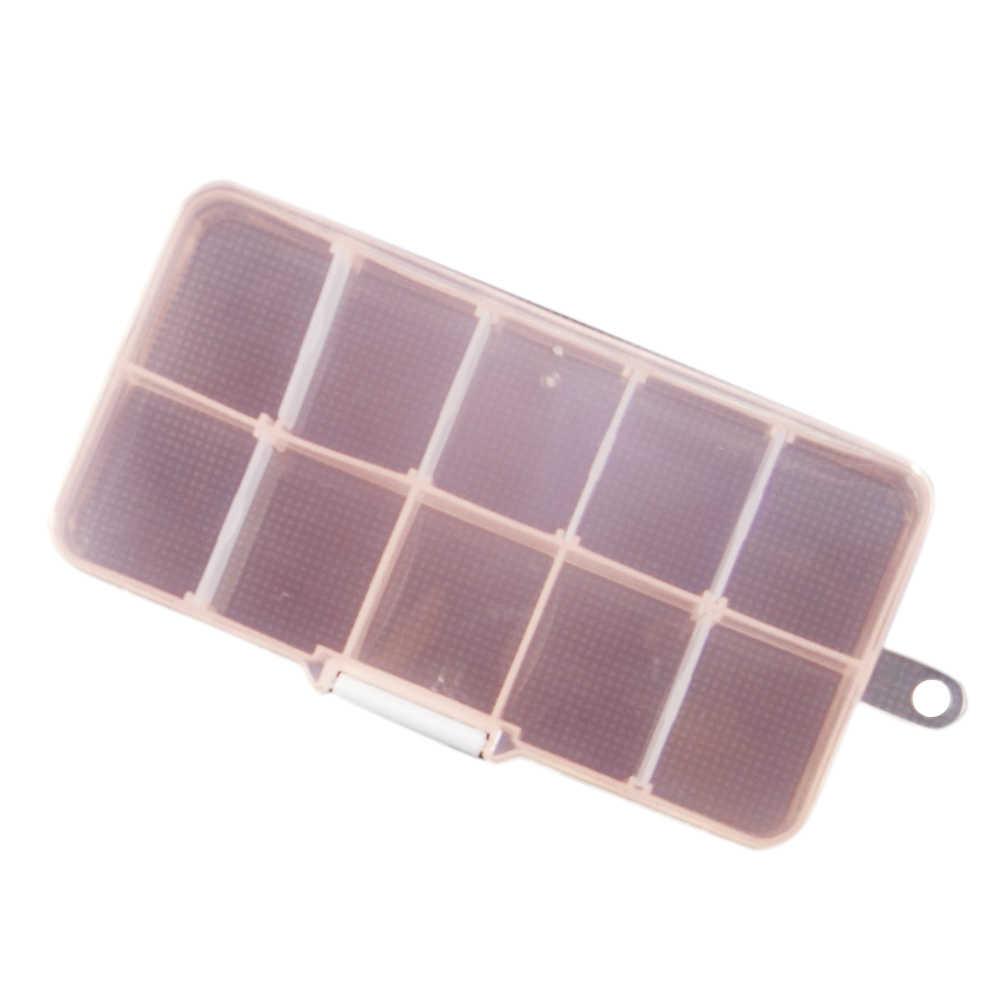実用的な 10 コンパートメントジュエリーイヤリングリング透明プラスチック製の収納ボックスオーガナイザーコンテナジュエリー収納ボックス耳