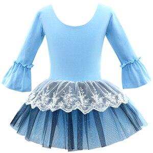 Image 3 - Ballet Tutu Dress Girl Children 3/4 Long Sleeve Performance Tutu Ballet Dance Dress