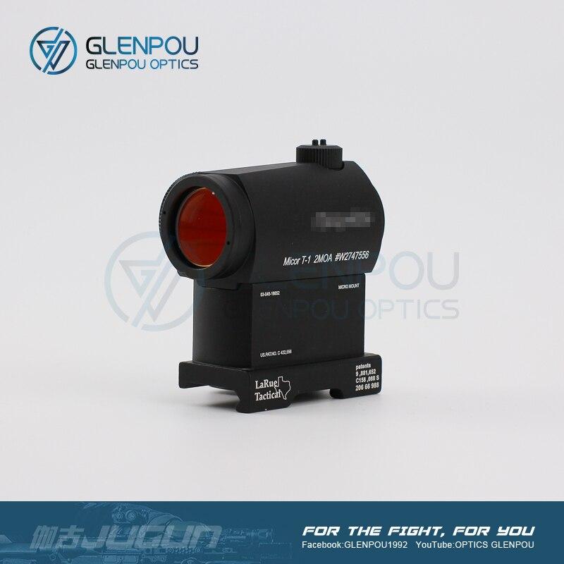 GLENPOU Aimpoint taktik nokta Sight 1X24 T1 balsaming lens Rifescope Sight işıklı keskin nişancı kırmızı nokta görüşü hızlı serbest bırakma ile