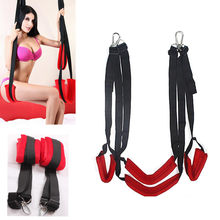 Sex swing For Couples Luxury Soft Material Sex Furniture Fetish Bandage Love Sex Swing Chairs Hanging Door Swing Sex Erotic Toys(China)