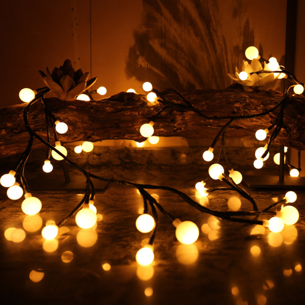 DIY Branch string lights for party globe led garland tree light room decor lights twinkle wedding decoration lights