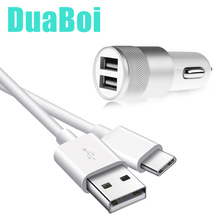Dual USB Car Charger Adapter With USB Type C Charging Cable For Xiaomi mi 9t mi9 lite CC9 e Pro Note 10 Pro Redmi 8A k30 k20 8T cheap DuaBoi 2 A Ports Car Lighter Slot 100-240V 1 2A