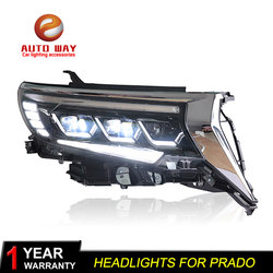 Car Styling Head Lamp case for Land Cruiser Prado FULL LED Headlights 2018 2019 New Prado FULL LED Prado Headlight