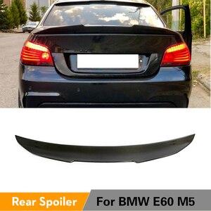 Kofferbak Spoiler Voor Bmw 5 Serie E60 M5 2004 - 2009 Carbon Fiber Kofferbak Boot Lip Vleugel Deksel spoiler(China)