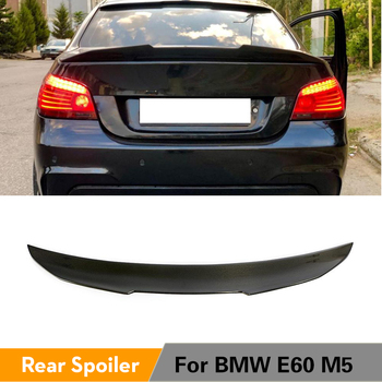 Rear Trunk Spoiler for BMW 5 Series E60 M5 2004 - 2009 Carbon Fiber Rear Trunk Boot Lip Wing Lid Spoiler image