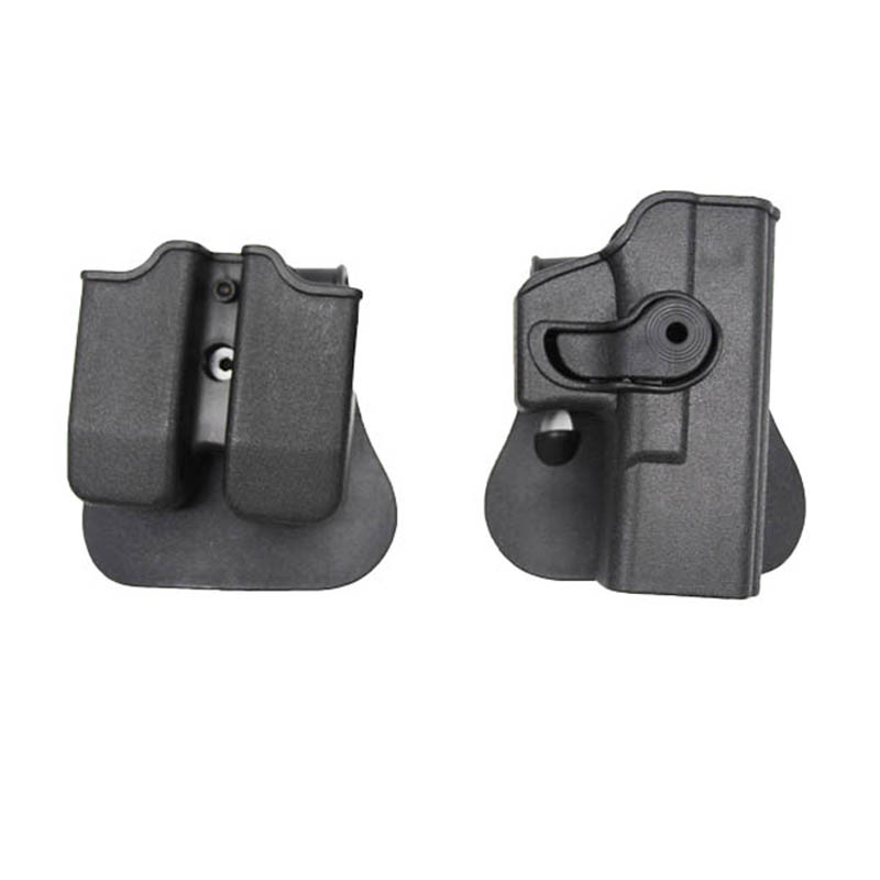IMI Style Polymer Right Handed Pistol Gun Holster Magazine Pouches Paddle Holster For Glock 17 19 Hunting Accessories Wholesale