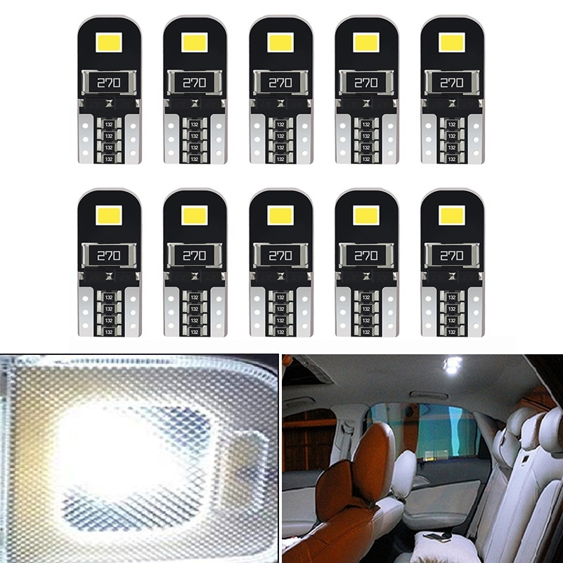 10Pcs W5W T10 LED Canbus Bulbs 168 194 LED Car Interior Light For <font><b>Audi</b></font> A4 B6 B8 A5 <font><b>A6</b></font> C5 C6 A7 A8 Q3 Q5 Q7 80 A3 S3 S4 S5 S6 S8 image