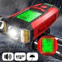 Велосипедный светильник передняя фара для велосипеда светильник 3 в 1 велосипедный головной светильник Водонепроницаемый вспышка светильник USB Перезаряжаемые Велосипедные Фары Светильник s, аксессуары для велосипеда