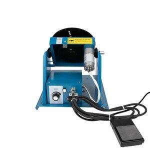 Image 4 - 220V 10 10KGเชื่อมแผ่นเสียงRotatorสำหรับท่อหรือวงกลมชิ้นงานPositionerเชื่อมพร้อมK01 65 Mini chuckตลับหมึกM14