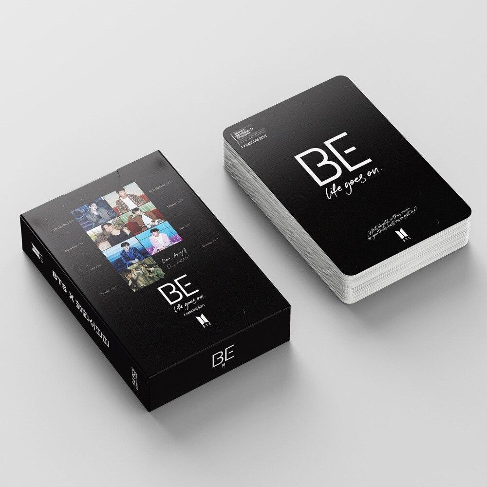 54 шт./компл. южнокорейские группы K-POP Bangtan Boys Lomo Card постер новый альбом BE PhotoCard Card настенный баннер JUNG KOOK JIMIN SUGA