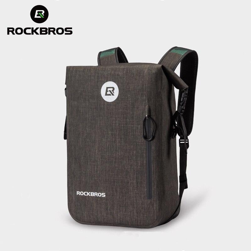 ROCKBROS 24L Cycling Bike Backpack Casual School Bags Waterproof Bike Bicycle BagOutdoor Travel Hiking Camping Sport Backpack