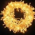 Светодиодная сказочная гирлянда 10 м, 30 м, 50 м, украшение для рождественской елки, свадьбы, водонепроницаемые гирлянды, занавески, освещение д...