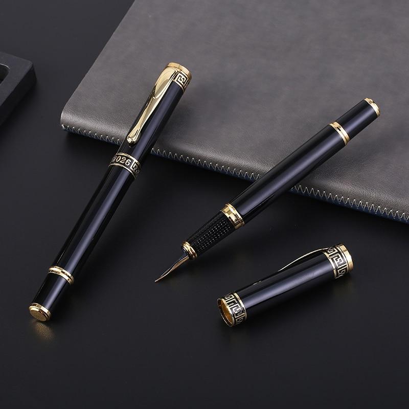 Guoyi D2026 Classic Vulpen 0,5 mm Spitse Leren Kantoorbenodigdheden Schoolspullen Geschenken Luxe Pen & Hotel Business Pen