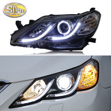 цена на SNCN Car Styling LED Headlight For Toyota Mark X Reiz 2010 - 2012 LED DRL Halogen Turn Signal Head Lamp Assembly Projector Lens