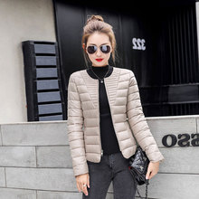 BHDD 2019 The New Winter Cotton Coat Short Light Coats and Jackets Women Parkas Plus Size Korean Jackets Womens Outerwear cheap Casual zipper T-51 Full Polyester Thin (Summer) REGULAR Solid 0 45kg Cotton-padded clothes cotton-padded jacket 71 -80