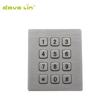 цена на 3*4 high quality matrix metal keypad kiosk rugged metal stainless metal keypad for access control