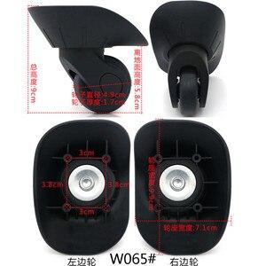 Image 4 - 1 para DIY wymiana koła bagażowe do walizek naprawa ręczna kółka Spinner części wózek gumowy bagażnik czarny W06