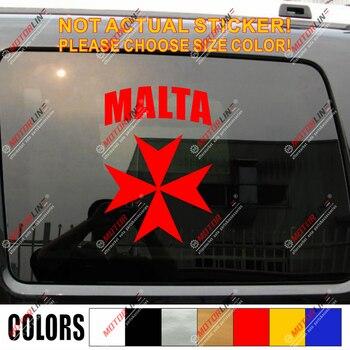 Cruz maltesa letras calcomanía pegatinas de vinilo para autos elija tamaño y color no bkgrd