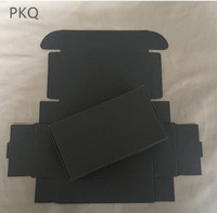 130x95x30mm black kraft paper cardboard box soap paper box brown paper gift packaging box