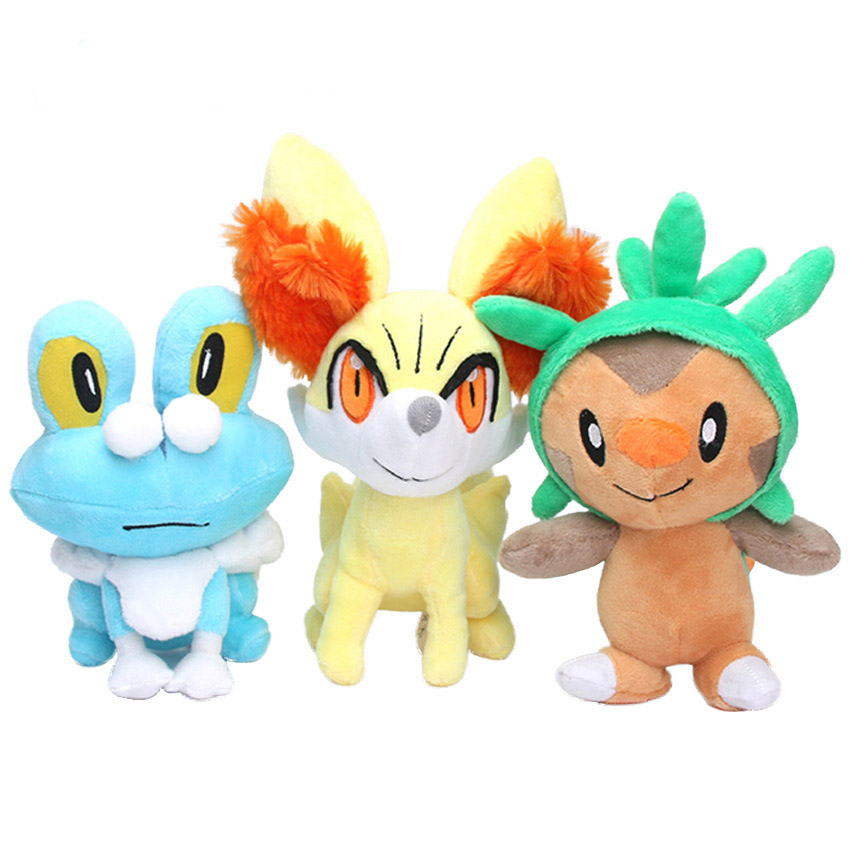 Doll Plush Chespin Fennekin Froakie Anime Peluche Toy Soft Stuffed Doll For Children's Great Birthday Gift