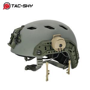 Image 4 - Tactical Headset Bracket Fast Ops Core Helmet ARC Rail Adapter Set Peltor comtac Series Military Noise Cancelling Headphones DE