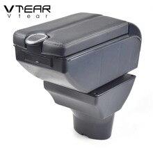Vtear für Hyundai i20 auto armlehne leder arm rest usb lagerung box ABS center konsole zubehör innen teile automobil 2011