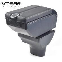 Vtear para Hyundai i20 coche apoyabrazos de brazo de cuero Resto de almacenamiento usb caja de ABS centro de la consola accesorios interior piezas de automóvil 2011