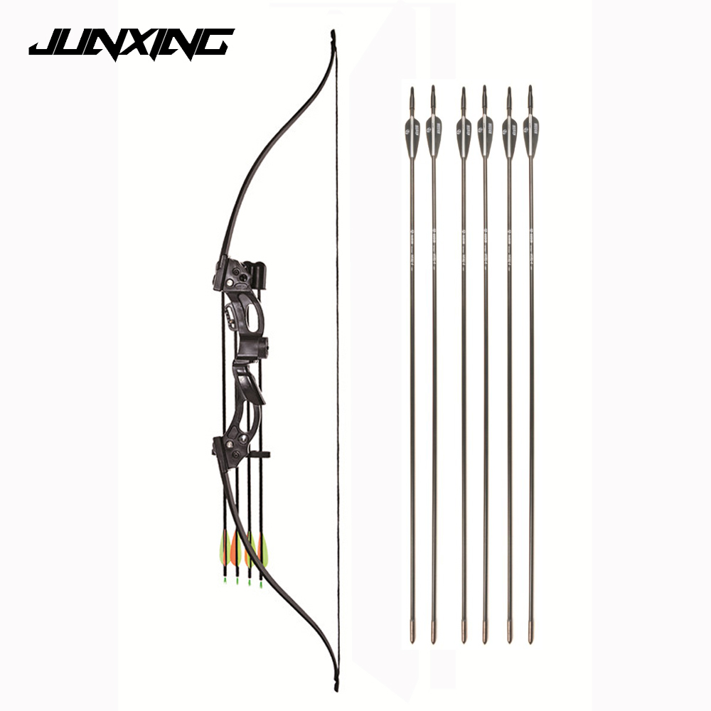 48 Inches Recurve Bow 20 Lbs Draw Length 28 Inches With Arrows For Right Hand User Archery Hunting Shooting