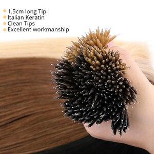 Image 3 - MRSHAIR Nano Rings Micro Ring 100% estensioni dei capelli umani capelli Non remy marrone biondo colore puro 50/200pc 12 16 20 24 pollici