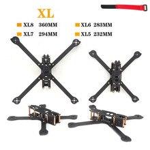HSKRC 3K الكربون الألياف XL5 V2 232 مللي متر XL6 283 مللي متر XL7 294 مللي متر XL8 360 مللي متر TrueX 5/6/7/8 بوصة XL340 340 مللي متر FPV حرة إطار سباق Drone