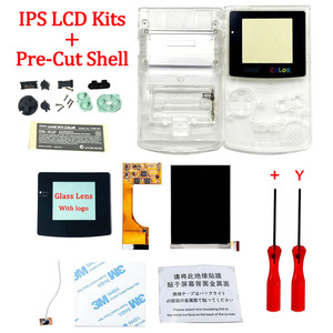 Image 2 - Full Screen Backlight IPS LCD With Pre cut Shell Case for Gameboy Color ips backlight LCD screen for GBC with housing shell case