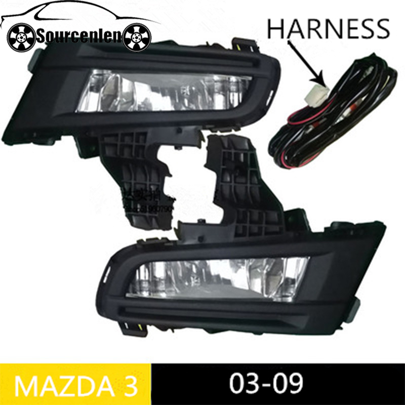 Front Bumper Fog Light 12V 51W for <font><b>Mazda</b></font> <font><b>3</b></font> M3 2007 2008 <font><b>2009</b></font> Daytime Running Driving Lamp Foglights Car Accessories image