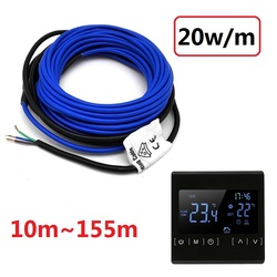 Todos los tamaños 20 w/m Cable de calefacción infrarrojo 220V doble conductor interior exterior cálido suelo cables de entrada garaje nieve fusión