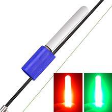 qiuxiaoaa Pesca Lightstick Fluorescente Luz Flotador Nocturno Clip en Dark Glow Stick Night Fishing Glow Stick