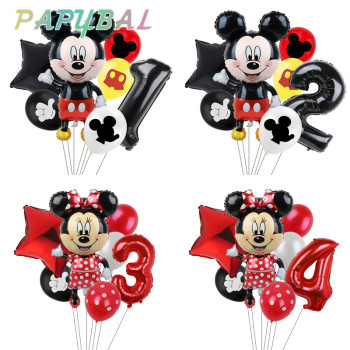 7pcs Disney Mickey Mouse Party Balloons Minnie Birthday Decorations Baby Shower Decor Kids Balloon