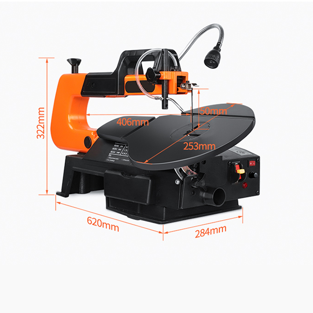 Hfd32d68e75ea4e57a1bb4d4ef046b80dA - LIVTER 16 inch Electric Scroll Jig Saw Woodworking Wire Sawing Carving Machine Carpentry Cutting Table Saw Adjustable Speed