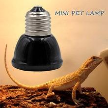 Mini Nero Pet lampada di Riscaldamento A Raggi Infrarossi In Ceramica Emettitore di Calore Luce Della Lampadina Chioccia Polli Lampada Rettile 25/50/ 75/100W